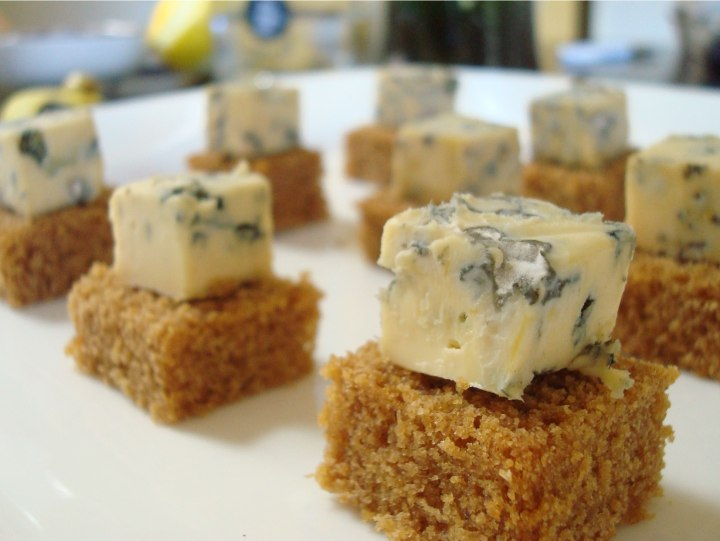 Blue cheese and gingerbread