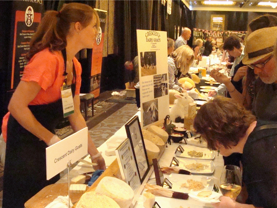 Crescent Dairy Goat's stand at the 2013 Cuisine Cheesefest