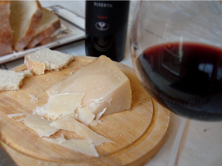 Evoking a sense of time and place, wine and cheese from Sardinia.
