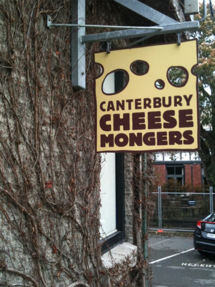 On the fringe of the Arts Centre, Canterbury Cheesemongers is a treasure trove for a cheese geek!