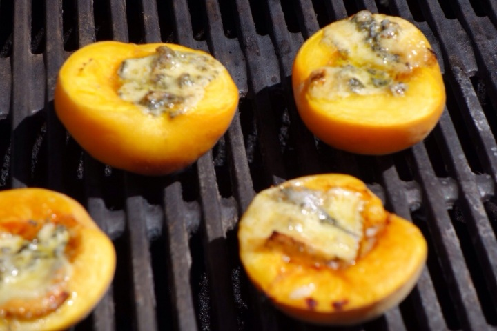 Peaches on the barbeque