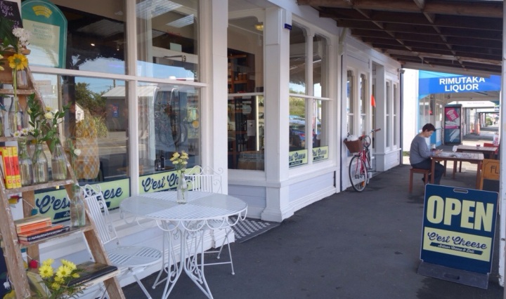 Featherston's cute new cheesemonger sells a great range of New Zealand artisan cheese.