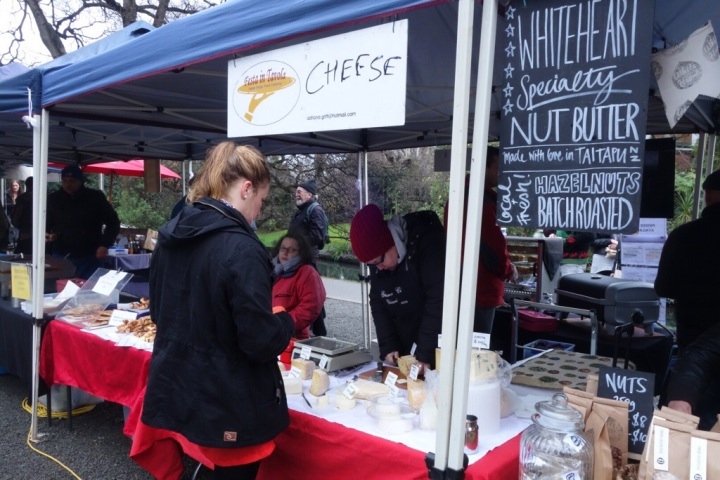Emilio's cheese - one of three cheese stalls at the market on Saturday.
